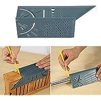 AROYEL Herramienta de medición de tamaño Cuadrado de medición de Bisel 3D y Regla de Instrumento, Regla de medición de tamaño Cuadrado de carpintería