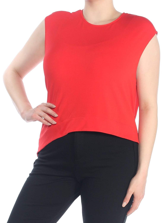 RACHEL Rachel Roy Womens Hi-Low Sleeveless Blouse