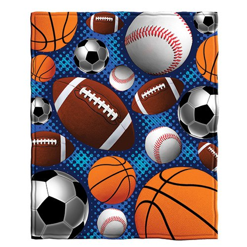Dawhud Direct Sports Super Fan Fleece Throw - Sports Blanket