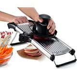 Gourmia GMS9105 Stainless Steel Mandoline Slicer Dial-Style Kitchen Slicer With Built in Adjustable Blades Fine to Thick Slice & Julienne Settings