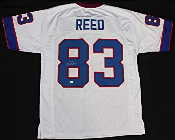 brand new 7360c ab57f Andre Reed Autographed White Buffalo Bills Jersey - Hand ...