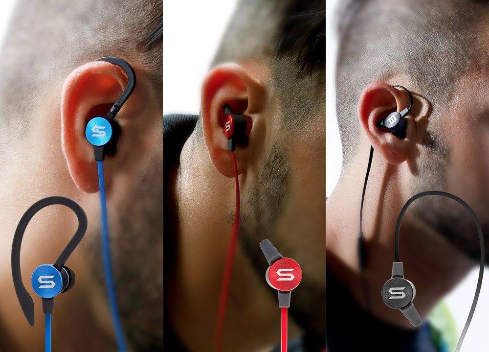 SOUL Electronics Flex2 High Performance Sports Earphones Running Earbuds - Blue
