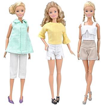 E-TING Vestido Hecho a Mano de Falda Ropa para Barbie muñeca … (3