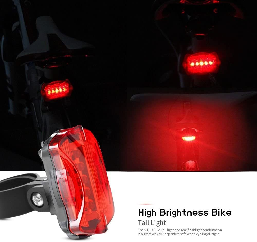 Bike Tail BACK STOP Light Red LED Safety Flashing Cycle Rear Back Lamp #HF8