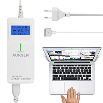 "Aursen Universal Cargador Adaptador con 2 Puertos USB para Ordenador Portátil MacBook Pro Retina 15 """