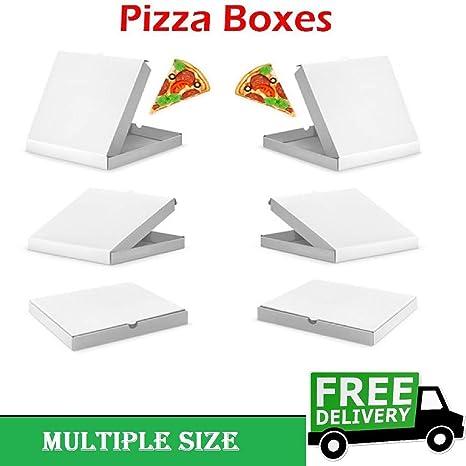 100 cajas de pizza de 17,78 cm para guardar comida rápida, paquete para