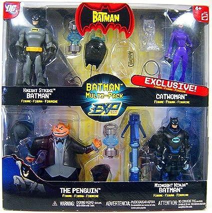 The Batman EXP Extreme Power Multi Pack Exclusive Knight Strike Batman, Catwoman, The Penguin Midnight Ninja Batman