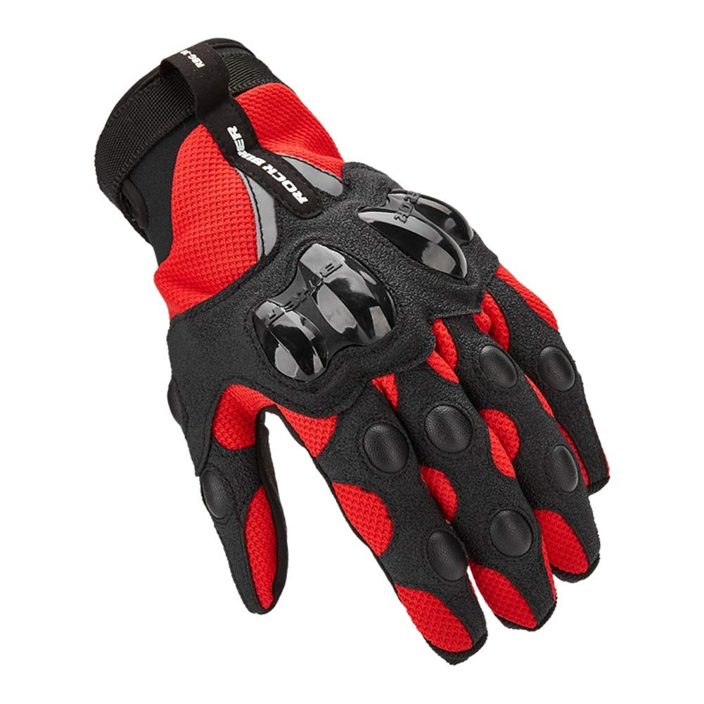 AINIYF Tactical Gloves | Motorcycle Cycling Rider Knight Four Seasons Anti-falling Breathable Non-Finger Full Finger Motorcycle Gloves Touchable (Color : Red, Size : M) by AINIYF (Image #1)