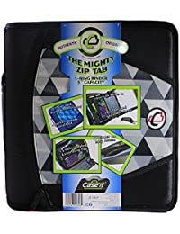 Mighty Zip Tab 3-Inch Zipper Binder, Printed Black,...