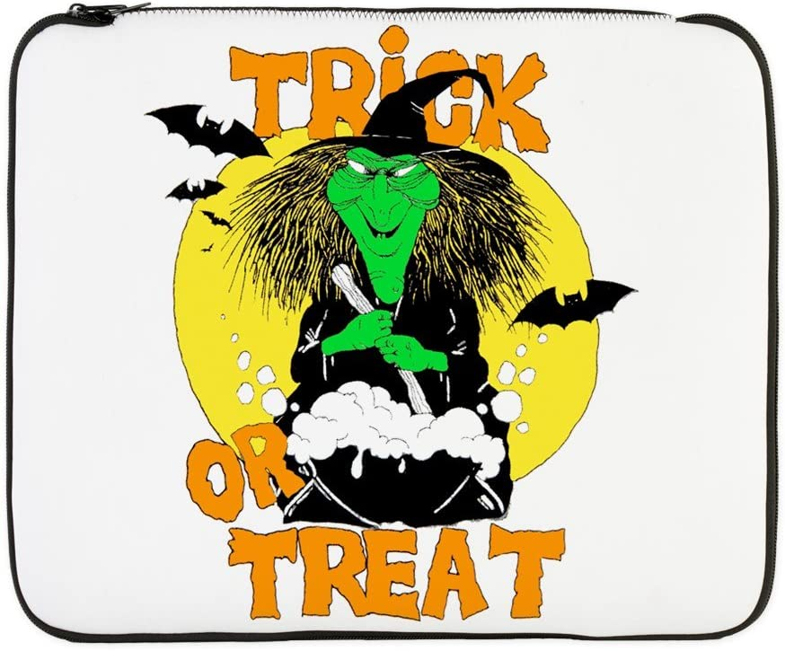 17 Inch Laptop Sleeve Halloween Trick or Treat Witch