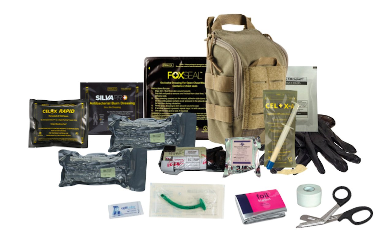The 5.11 Advanced Trauma Kit Coyote is designed to be TCCC compliant, and has the ability to address the three leading causes of combat and tactical deaths