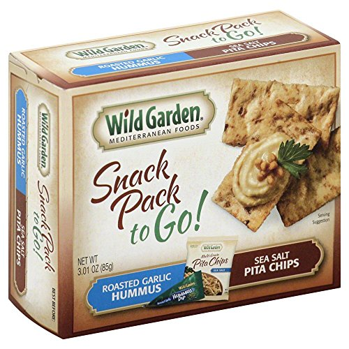 Wild Garden Snack Combo To Go, Hummus & Pita Chips - Roasted Garlic - 3.01 (Sultan Garden)