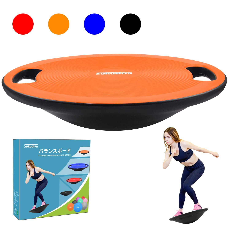 Sukudonバランスボード 体幹 トレーニング 滑り止め 持ち運びやすい 円形 直径40cm