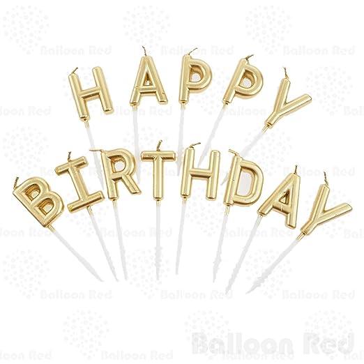 Red Balloon Feliz cumpleaños Carta Vela, 13 Carta Juego de ...