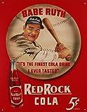 Desperate Enterprises Babe Ruth/Red Rock Cola Collectible Metal Sign , 13x16