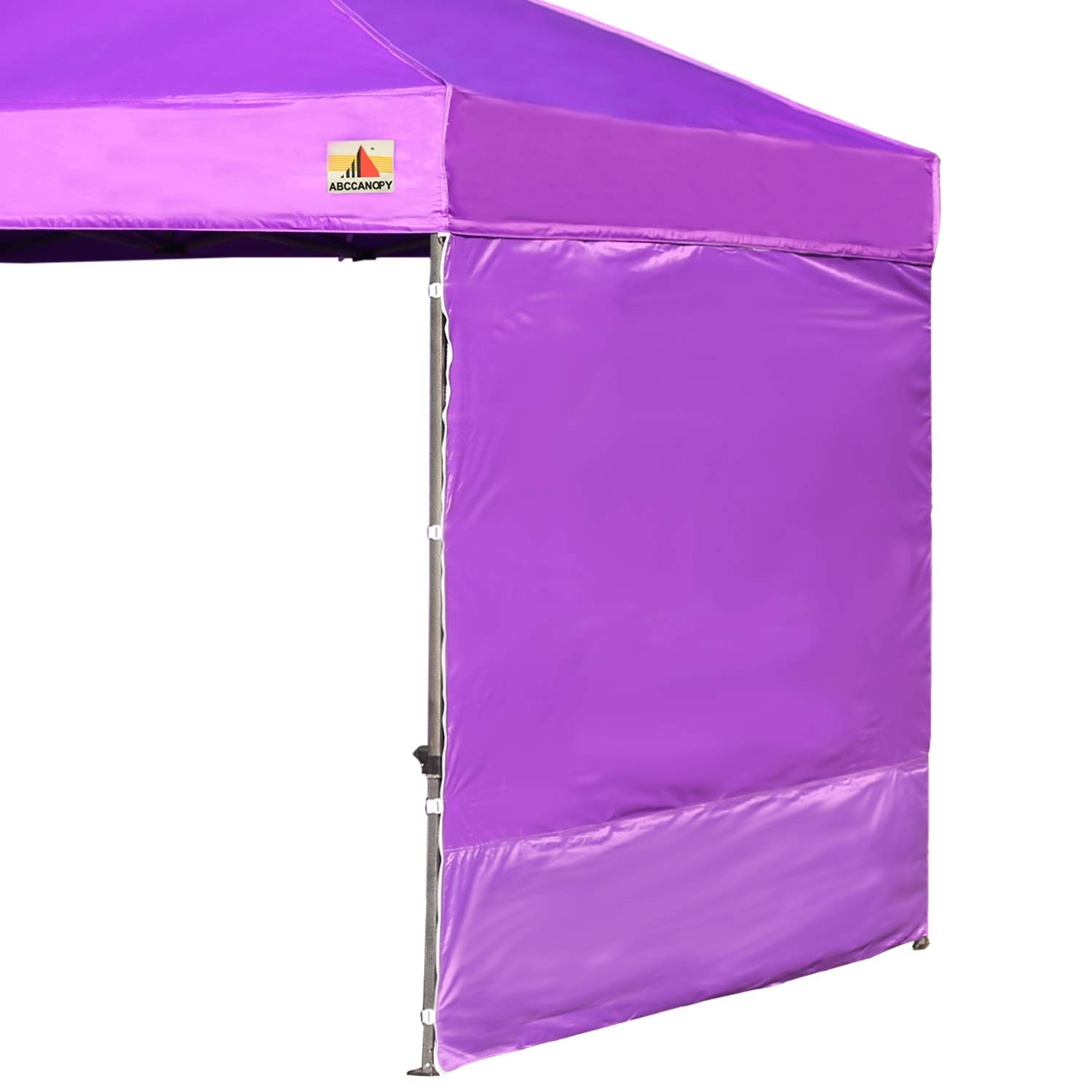 ABCCANOPY 15+Colors 10' Sun Wall for 10'x 10' Straight Leg pop up Canopy Tent, 10' Sidewall kit (1 Panel) with Truss Straps, (Purple) by ABCCANOPY