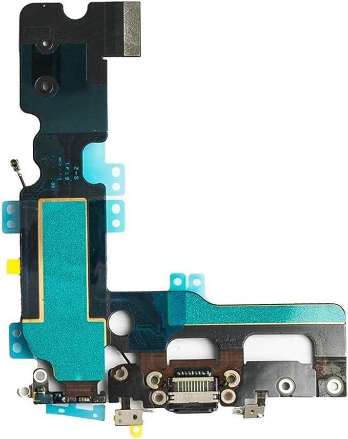 Conector de puerto de carga USB y conector para auriculares + cable flexible para micrófono + antena de teléfono móvil de repuesto para iPhone 7 de ...