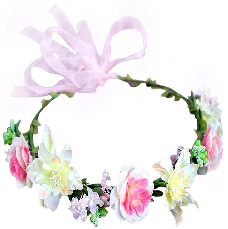 Flower Crown Floral Headband Headpiece Wreath Girls Womens