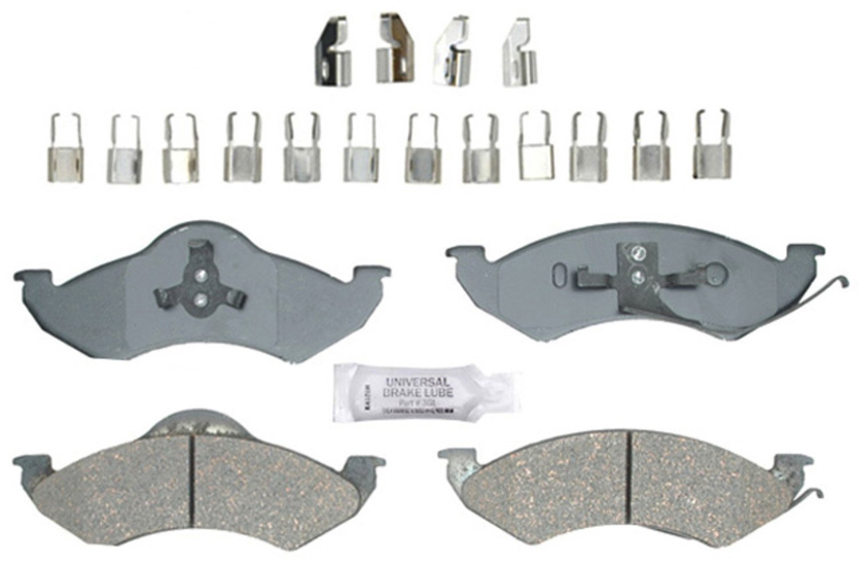 ACDelco 14D746MHF1 Advantage Semi-Metallic Front Disc Brake Pad Set