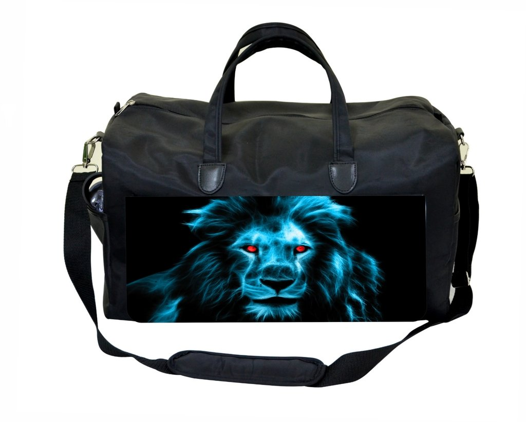 Cool Blue Lion with Red Eyes Therapist Bag