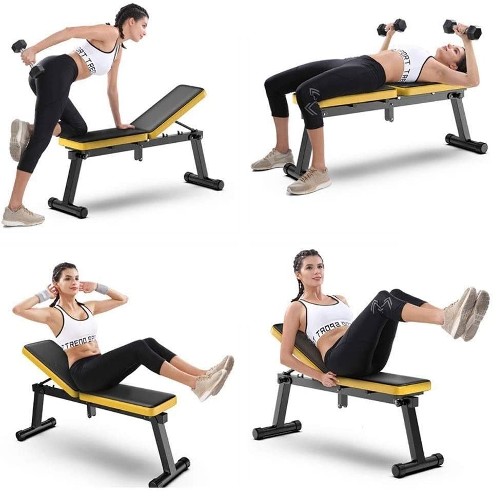 RMXMY Dumbbell bench foldable home sit-up fitness equipment fitness chair multi-function flat bench stool