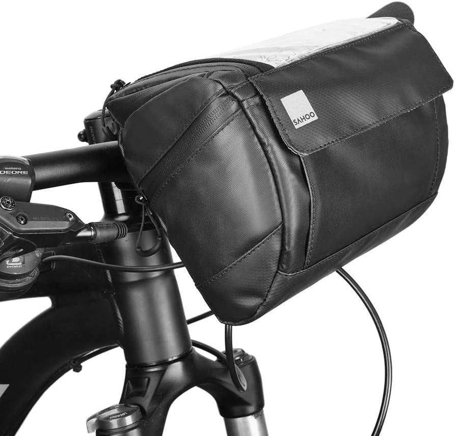 Bicycle Handlebar Basket Bag Bike Reflective Front Pannier Tube Waterproof Hot !