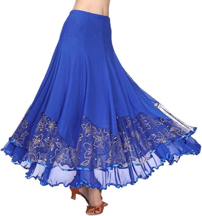 Hellery Ropa De Baile De Salón De Baile Flamenco Con Lentejuelas ...