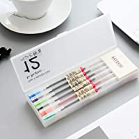 Colorful Gel Pens, Doraking 12 Colors 0.5mm Tipe Gel Pens for Students, Exam, Charging up, Writing on with 2 Sticky Note in Pen Case