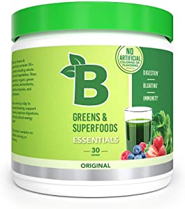 Bloom Nutrition Green Superfood | Best Tasting Greens Powder | Complete Whole Foods (Organic Spirulina, Chlorella, Wheat Grass), Probiotics, Digestive Enzymes, Antioxidants, & Adaptogens (Original)