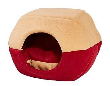 Premewish - Cucha con suave cama para perros y mascotas, ambiente acogedor y cálido con cojín: Amazon.es: Hogar