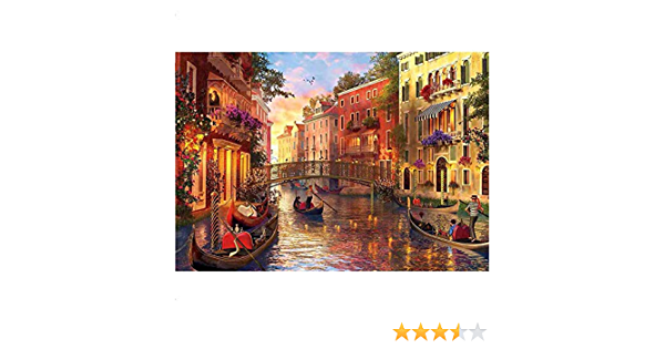 1000 Piece Puzzle Water City of Venice Adults Kids Interactive Free Ship