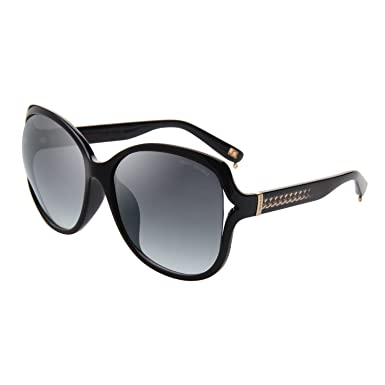 b4e3c99bc80d Jimmy Orange Designer Oversized Retro Round TR Frame Womens Ladies s  Sunglasses J7235 Black