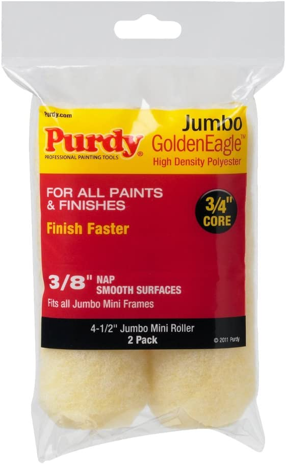 Purdy 140624022 Jumbo Mini Golden Eagle Roller Replacements, 2-Pack, 4-1/2 inch x 3/8 inch nap