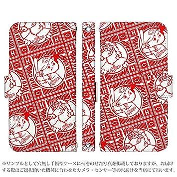 757afc6896 Amazon | JOJO L-02K 手帳型 ケース [デザイン:34.升々(赤)/マグネット ...