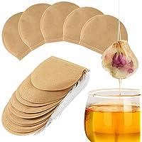 DERCLIVE 300Pcs Tea Filter Bags,Natural Unbleached Paper Disposable