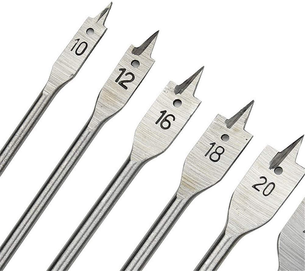 10-25 mm Schreinerwerkzeug Fr/äser Lochs/äge 6 flache Bohrer Holzbearbeitung Spaten