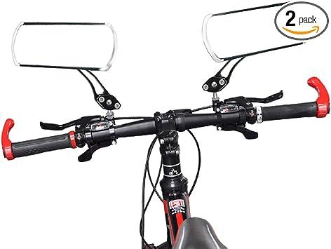 Universal Rotate Cycling Bike Handlebar Wide Angle Rearview Mirror