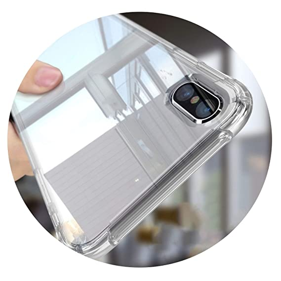 79844d29359 Image Unavailable. Image not available for. Color: Anti Knock Shockproof  Soft Airbag Phone Case for iPhone Xs Max XR X 6 6S 7