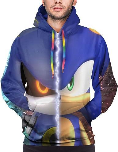 Amazon Com Sega Men S Sonic The Hedgehog Cartoon Costume Hoodie Clothing