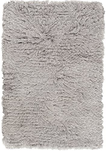 Surya WHI-1003 Whisper Designer Plush Area Rug, 8 by 10-Feet, Light Gray