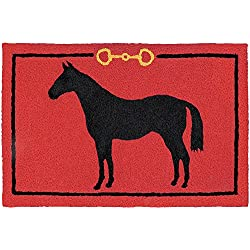 "Jellybean Hunter Jumper HORSE Indoor/Outdoor Machine Washable 21"" x 33"" Accent Rug"