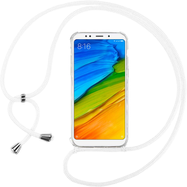 Ingen Funda Xiaomi Redmi 5 Plus - Carcasa Xiaomi Redmi 5 Plus con Colgante, Transparente Suave Silicona TPU Bumper Rubber Prueba de Golpes Caso para Xiaomi Redmi 5 Plus Case 5.99Pulgadas-Blanco