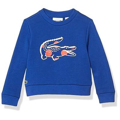 Lacoste Girls Polka Dot Big Croc Crewneck Sweatshirt