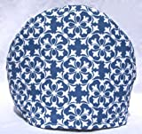 Handmade Blue and White Fabric Tea Cozy Lined and Padded Cosy