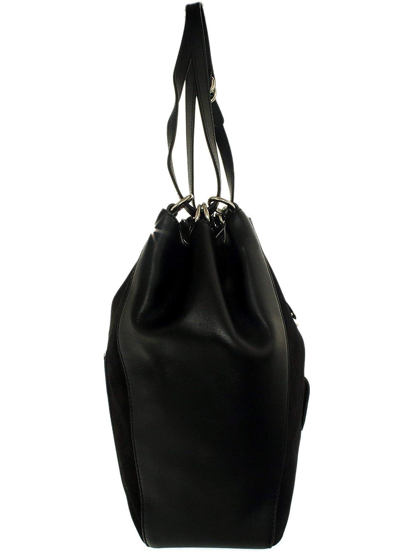 7c5a803ea0cf0d Amazon.com: MICHAEL MICHAEL KORS Quincy Large Suede Shoulder Bag (Black): Michael  Kors: Shoes