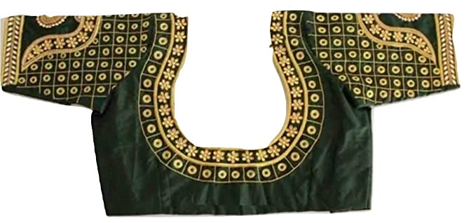 86d01ac3d9f4d2 Image Unavailable. Image not available for. Colour  sssfashions Women s  Pattu Maggam Work Blouse (Green ...