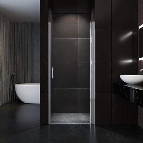 SONNI Nischentür Dusche 70 x 185 cm Duschwand Glas Duschtür Pendeltür  Duschabtrennung ohne Rahmen Duschkabine