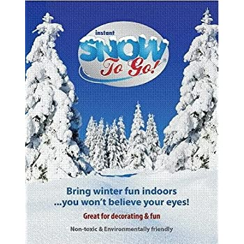 Instant Snow to Go (Makes 1 Gallon Snow Decoration)