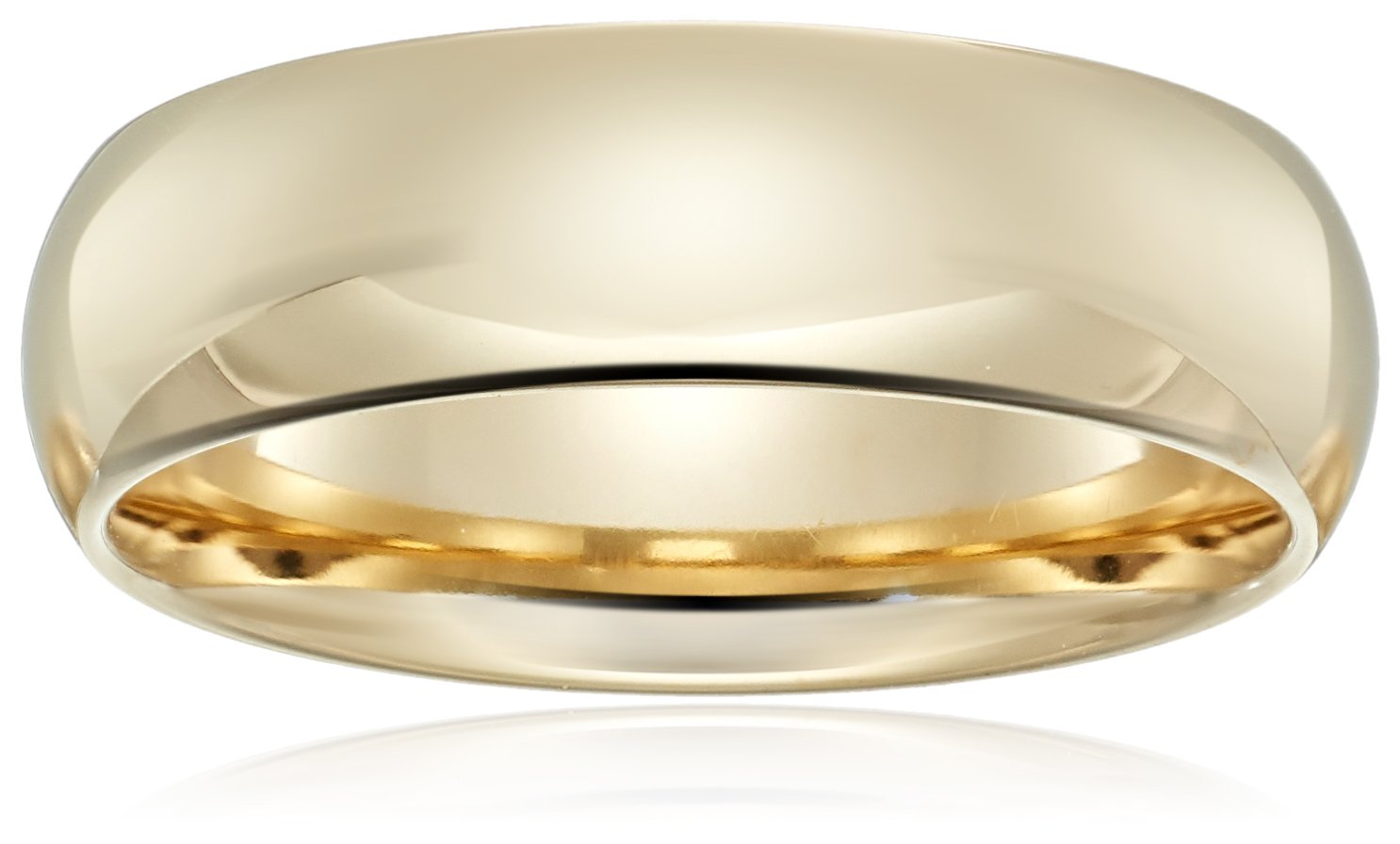 Standard Comfort-Fit 14K Yellow Gold Band, 6mm, Size 8