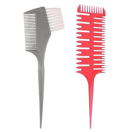MagiDeal Peine de Sección Tinte de Pelo Profesional de 3 Vías Accesorio para Peinado de Cabello